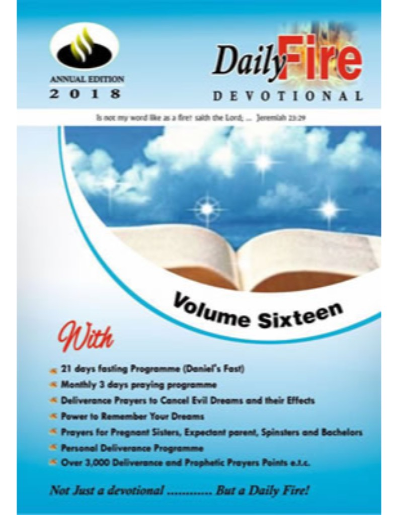 Daily Fire Devotional 2018 By Michael Ayodele Oluwalagba