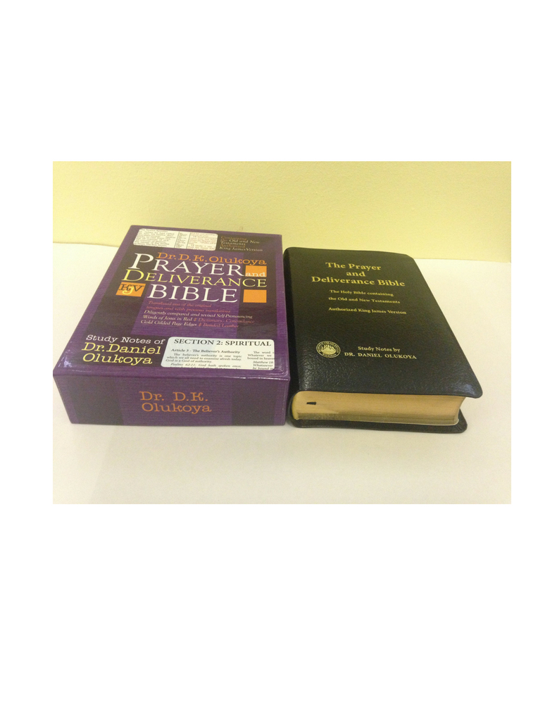 KJV The Prayer and Deliverance Bible,Giant Print Black Leather Bound(Big  Size)Index--by Dr D K  Olukoya